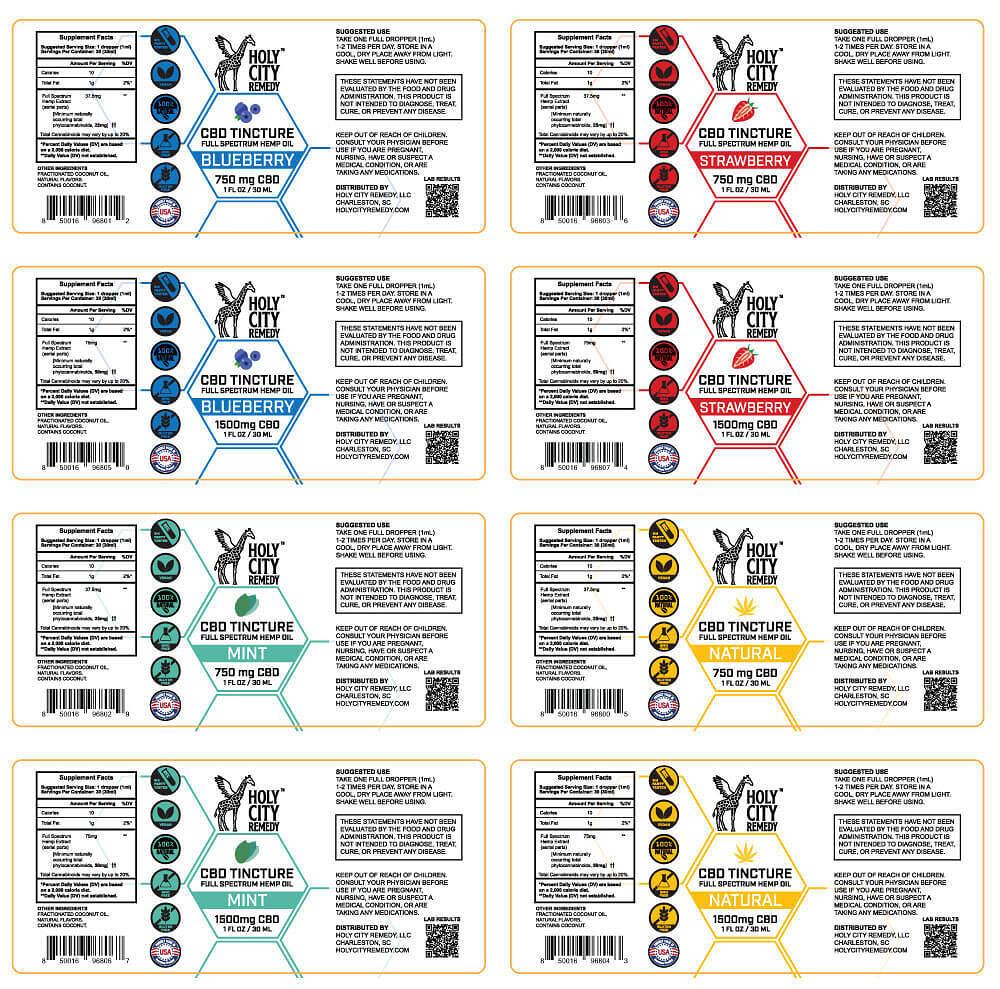 Tincture Labels
